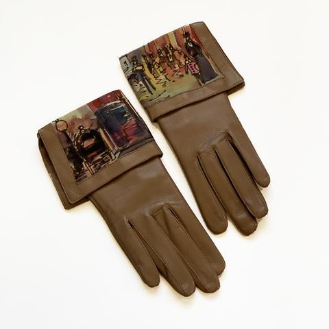 Кожаные перчатки Осенний Париж