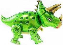 К Ходячая Фигура, Динозавр Трицератопс, Зеленый, 36''/91 см, 1 шт.