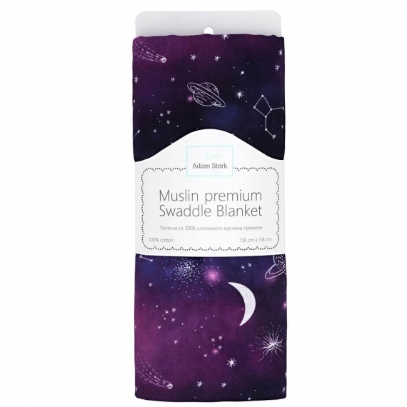 Пеленка детская муслин Adam Stork Night Galaxy