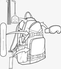 Рюкзак сноубордический Burton Rider's 2.0 25L Black Cordura - 2