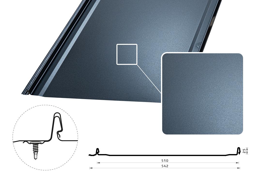 Фальцевая панель Iron Click Стандарт