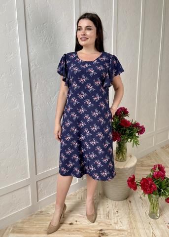 Сесіль. Романтична весняна сукня. Сині квіти #3
