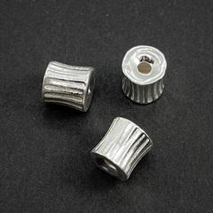 Бусина Васко 8,3х7,5 мм серебро 925