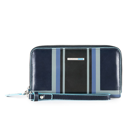 Кошелек Piquadro Blue Square, синий, 17,5x10x2,5 см