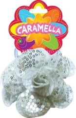 Резинка для волос с цветочком и паетками, Caramella