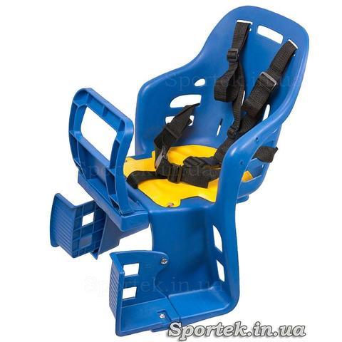 Пластмассовое велосипедное кресло для детей от 1 года и весом до 22 кг синее