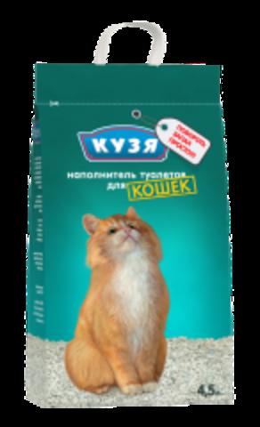 КУЗЯ наполнитель впитывающий для кошек 4,5 л.