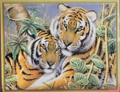 Алмазная Мозаика 30x40 Тигр с тигрицей (Арт. SEG74847 )