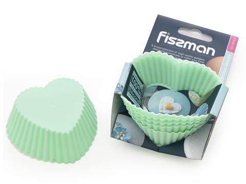 "6699 FISSMAN Формы для выпечки ""Сердечки"" 7x3,3 см / 6 шт,  купить"