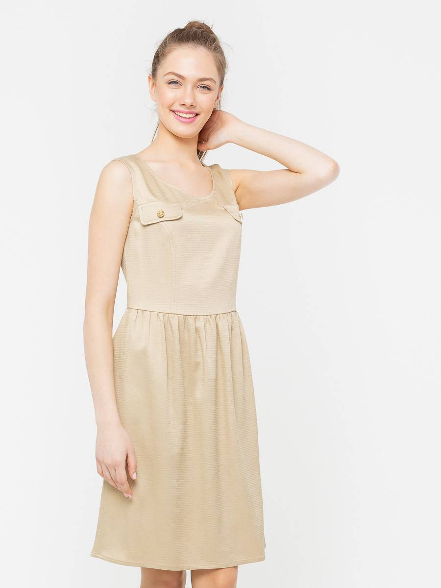 Платье З103-512 - Летнее платье, отрезное по линии талии, с расклешенной юбкой. Оно прекрасно держит форму, удобно в повседневном ношении и дает коже возможность дышать. Отличный вариант для повседневного гардероба.
