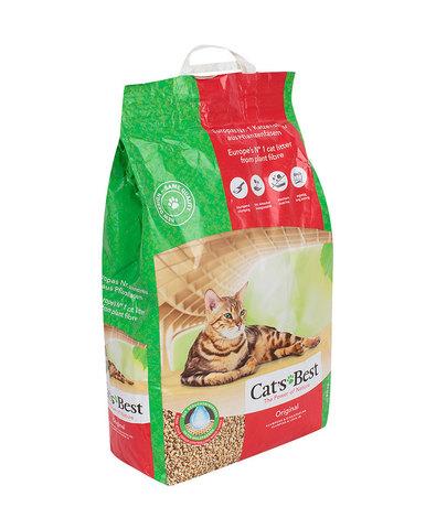 Cat's Best Original наполнитель древесный без запаха 10л+2л