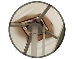 Зонт 4,0х4,0 м с воланом (телескопический, тросовый, стальной каркас с подставкой, тент OXF 300D) ПК