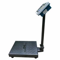 Весы торговые напольные ГАРАНТ ВПН-150У, LCD, АКБ, 150кг, 50гр, 400*300, усиленные, складная стойка
