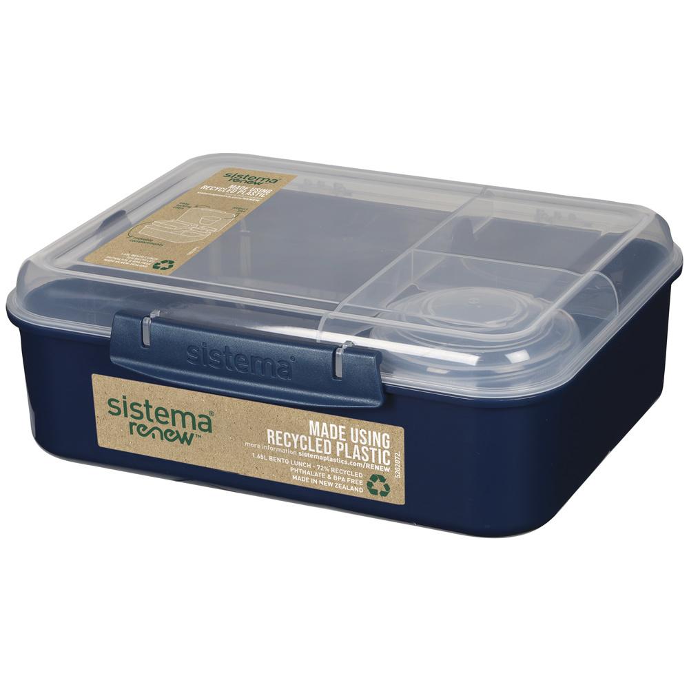 "Ланч-бокс Sistema ""Bento Box Renew"" 1,65л, цвет Синий"