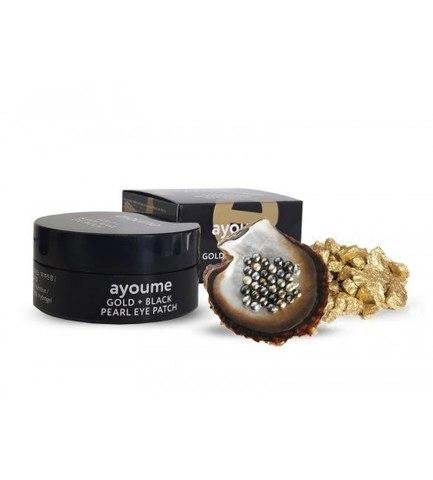 AYOUME Gold + Black Pearl Eye Patch патчи для глаз от темных кругов с золотом и черным жемчугом