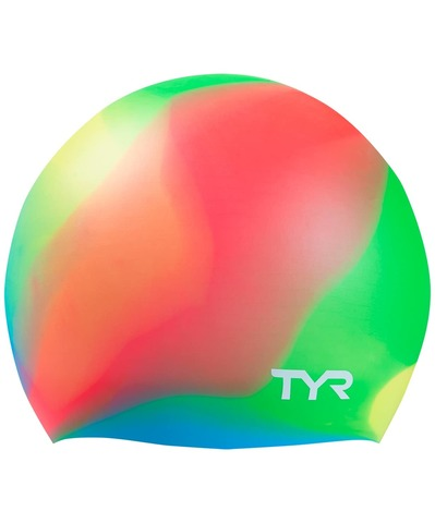 Шапочка для плавания Tie Dye Junior Swim Cap, силикон, LCSJRTD/465, синий