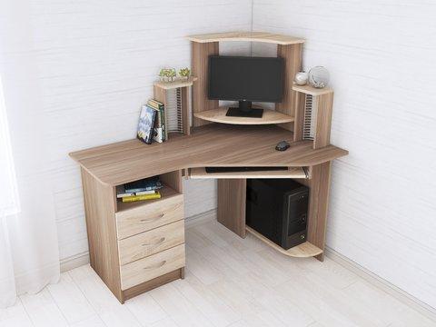 Компьютерный стол Грета-7 дуб сонома