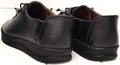 Кэжуал стиль мокасины кроссовки женские EVA collection 151 Black.