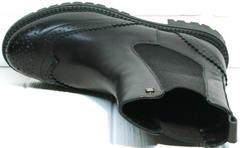 Женские высокие ботинки Jina 7113 Leather Black