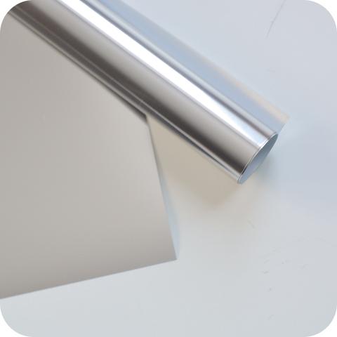 Термотрансферная пленка металлик (с эффектом фольгирования) серебро 25х25 см