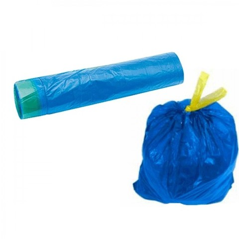 Мешки для мусора с завязками 60 л (60*80 см) рулон, 30 шт