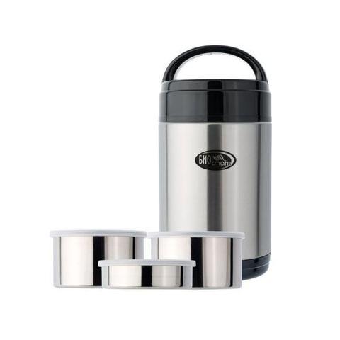 Термос для еды Biostal (2 литра) с 3-мя метал.контейнерами
