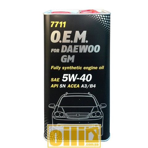 Mannol 7711 O.E.M. for DAEWOO GM 5W-40 4л