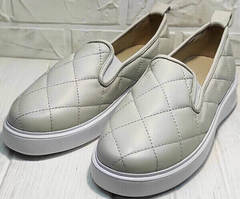 Модные слипоны туфли кожаные женские Alpino 21YA-Y2859 Cream.