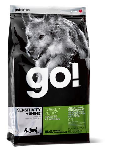 Беззерновой для щенков и собак с индейкой для чувствительного пищеварения,