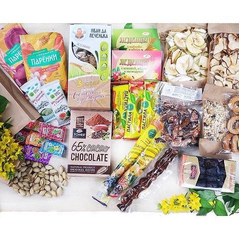 Фотография Большой набор перекусов дома, в дорогу, на прогулку и в путешествие купить в магазине Афлора