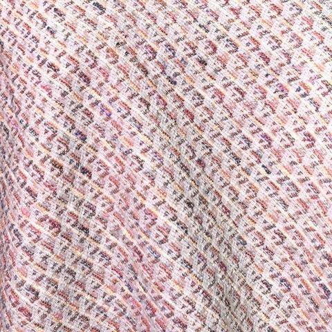 Ткань твид летний коралловый ромб 3015