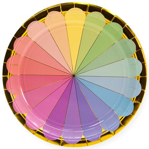 Тарелки 23 см., Радужный спектр,  6 шт.