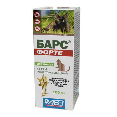 Барс Форте спрей инсектоакарицидный для кошек, 100 мл