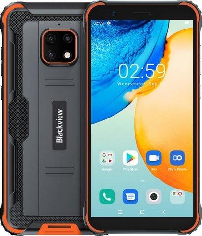 Смартфон Blackview BV4900, черный/оранжевый