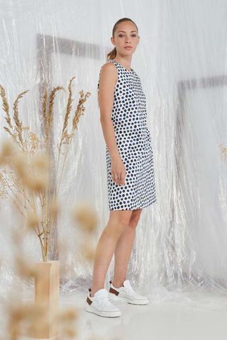 CAPPELLINI Платье хлопковое в горошек