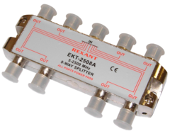 Разветвитель на 8 ТВ Rexant ekt-2508A (спутниковый с проходом по питанию 5-2500Mhz)