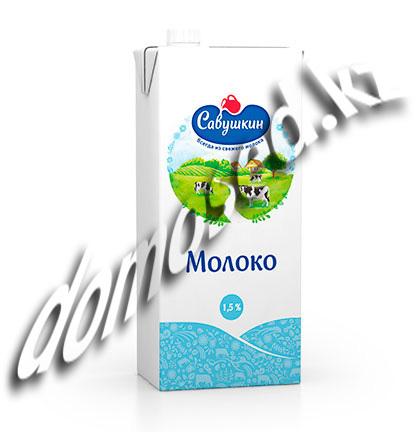 Молоко ультрапастеризованное «Савушкин» 3,1% 1л