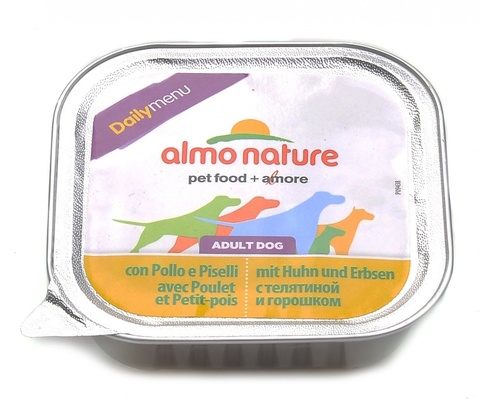 Консервы (ламистер) Almo Nature Daily Menu - Chicken with Pease