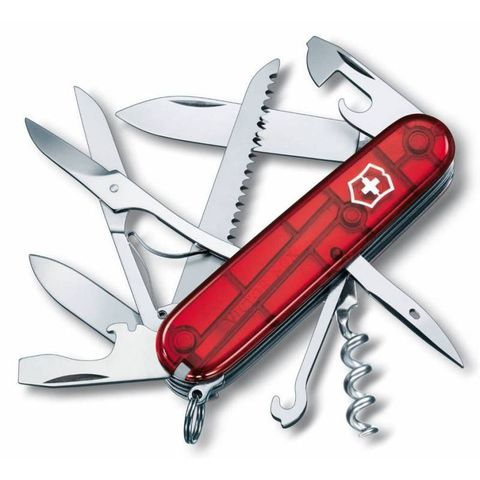 Нож перочинный Victorinox Huntsman (1.3713.T) 91мм 15функций красный полупрозрачный
