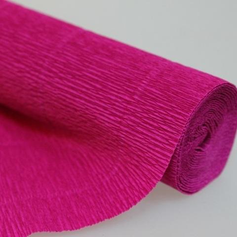 Бумага гофрированная, цвет 552 малиновый, 180г, 50х250 см, Cartotecnica Rossi (Италия)