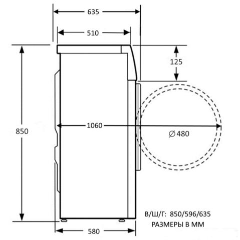Стиральная машина Kuppersberg WIS 60129