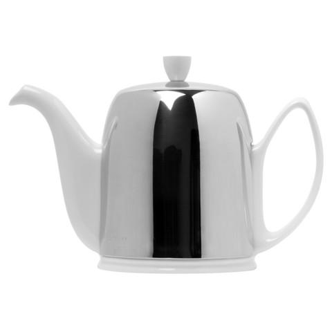 Фарфоровый заварочный чайник на 8 чашек с крышкой, белый, артикул 211990.