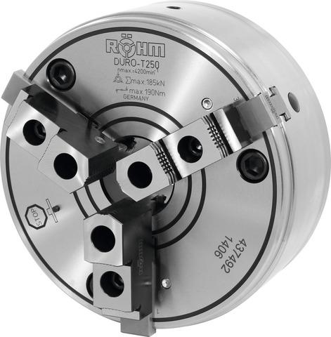 Клино-реечный токарный патрон с базовыми кулачками и твёрдыми верхними частями DIN 55027