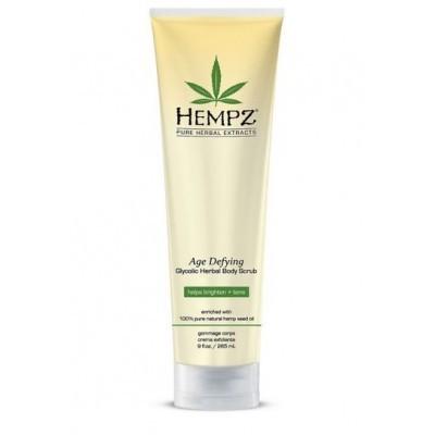 Hempz - Средства для душа: Скраб для тела Антивозрастной (Age Defying Herbal Body Scrub), 265г