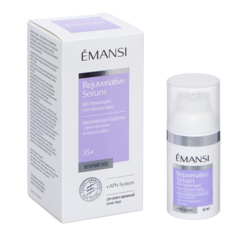 EMANSI Омолаживающая сыворотка с фитоэстрогенами + APh-System для сухой и нормальной кожи, 30 мл