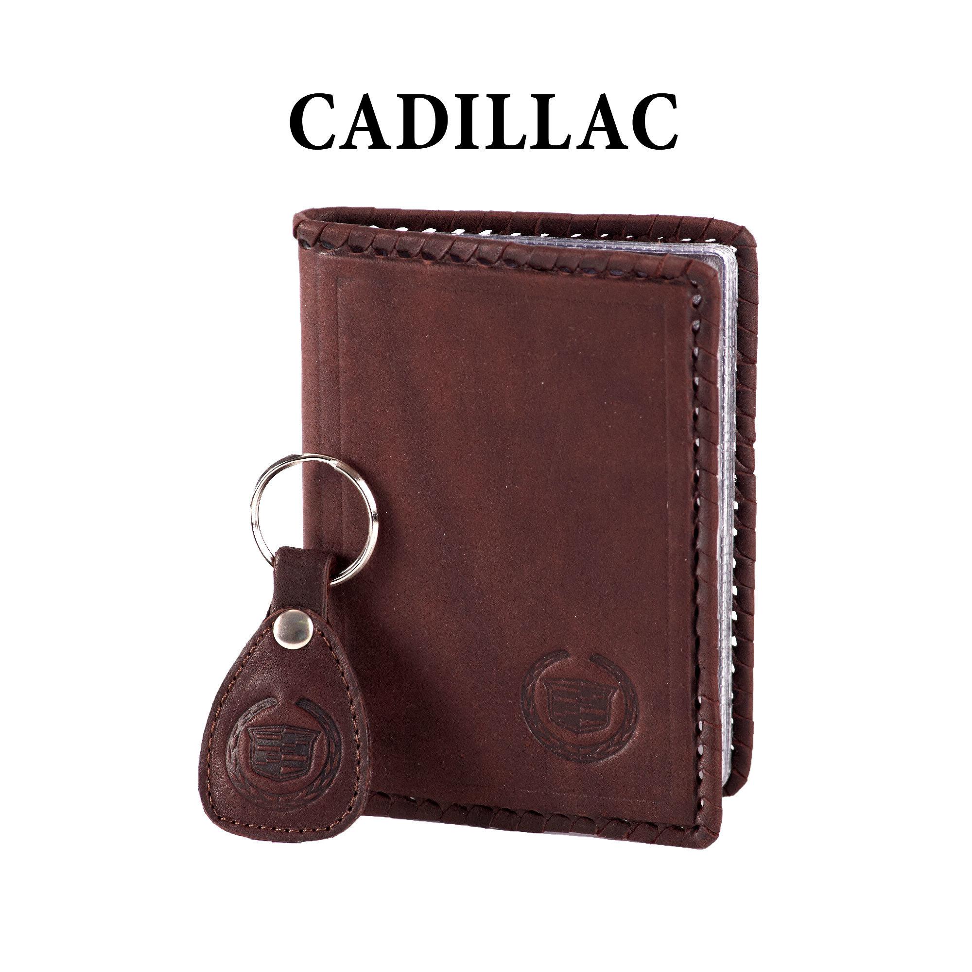 Обложка для водительского удостоверения с брелком «CADILLAC»