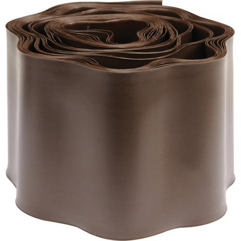 Бордюр для газона h15см (9м) волнистый коричневый 159WB