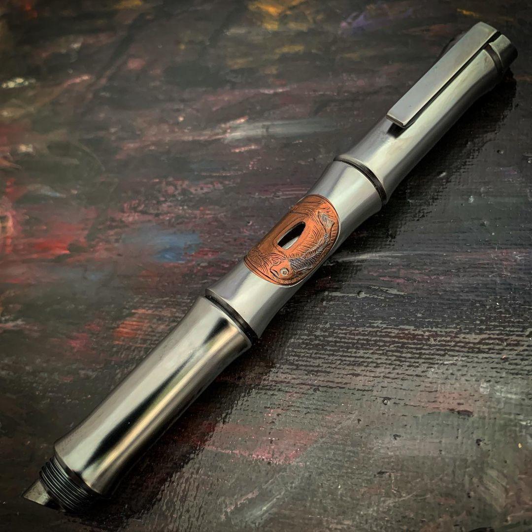 Титановая ручка Kamikaze Tsuba Koi
