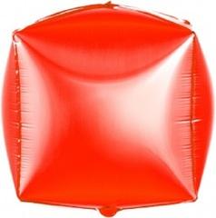 К Шар 3D Куб, Красный, 24''/61 см, 1 шт.