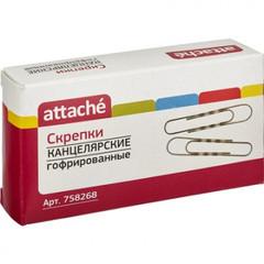 Скрепки Attache гофрированные овальные 75 мм (40 штук в упаковке)